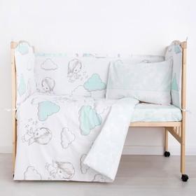 """Комплект в кроватку (6 предметов) """"Маленький ангел"""", бязь, хл100%"""