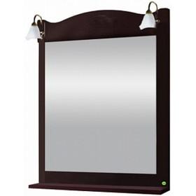 """Зеркало с полкой и светильниками """"Классика 700"""" Венге арт.12267"""