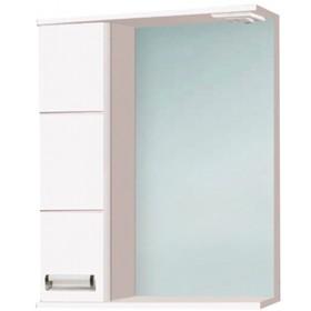 """Зеркало-шкаф """"Флора 600 Т"""" белое, левое арт.10703"""