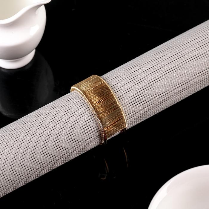 Кольцо для салфеток «Аврора», d=5 см, цвет золотой