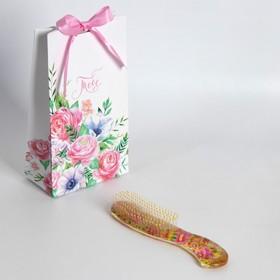 Подарочная расчёска «Калейдоскоп», разноцветная