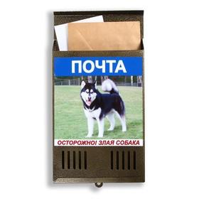 Ящик почтовый без замка (с петлёй), вертикальный, «Фото», МИКС, бронзовый