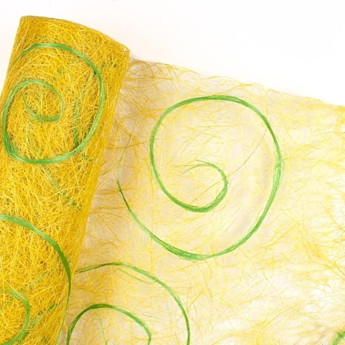 Абака «Спираль» 0,5 х 9 м, лимонно-салатовый
