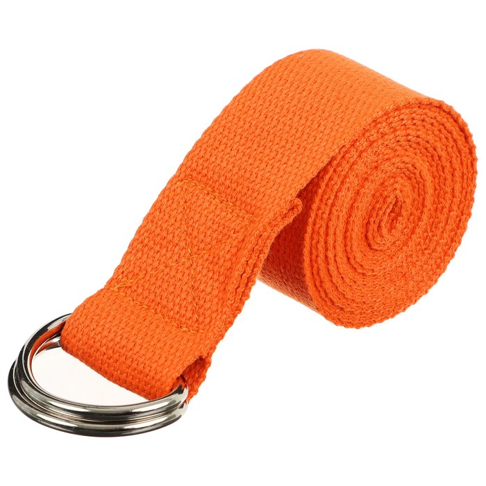 Ремень для йоги 180х4 см, цвета МИКС