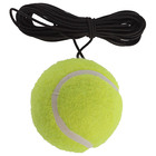 Tennis ball with elastic band