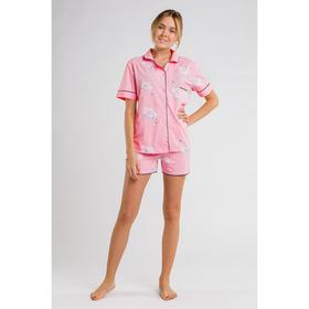 Женская пижама с шортами «Лебеди», размер 44, цвет розовый