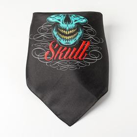 Adult bandana Skull green R-R. 50*50cm