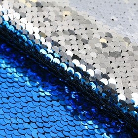 """Fabric for patchwork """"blue/silver"""", 33 x 33 cm"""
