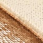Ткань для пэчворка «Молочная-золотая», 33 × 33 см