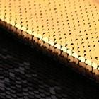 Ткань для пэчворка «Матовая черная-золотая», 33 × 33 см
