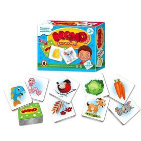 Настольная игра «Кто что ест?»