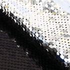 Ткань для пэчворка «Чёрная-серебряная», 33 × 33 см