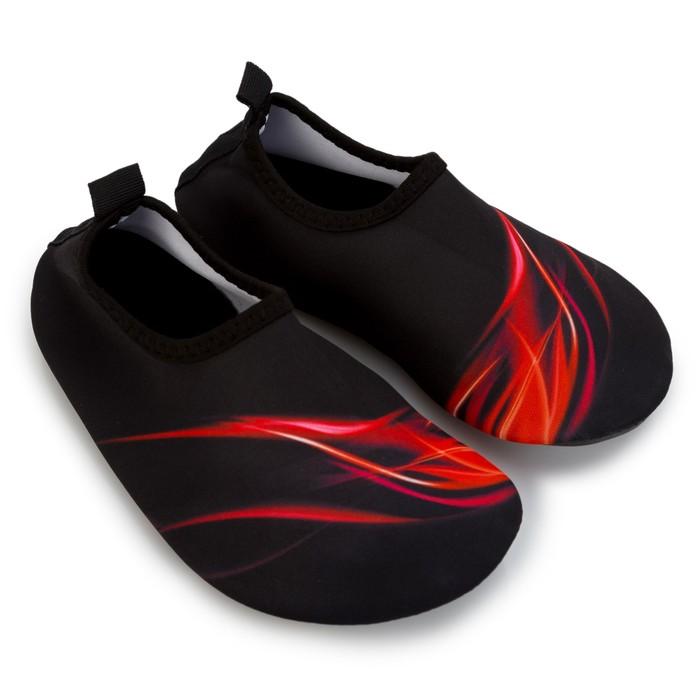Аквашузы детские MINAKU «Огонь» цвет красный, размер 32-33 - фото 798163411