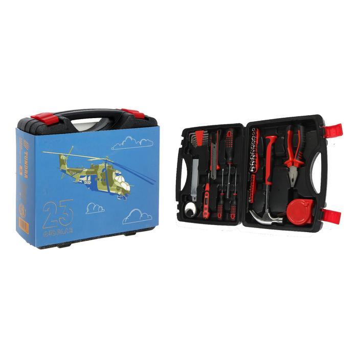 """Набор инструментов в кейсе TUNDRA """"23 Февраля"""", подарочная упаковка, 46 предметов"""