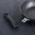 Набор кухонной посуды «Мраморная №3», 6 предметов, антипригарное покрытие, цвет тёмный мрамор - фото 721408