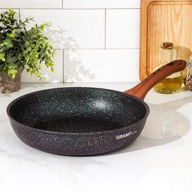 Frying pan 28 cm Granit ultra with handle, non-stick coating.