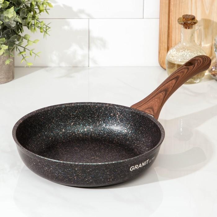 Сковорода 22 см Granit ultra с ручкой, антипригарное покрытие