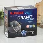Кастрюля Granit ultra, 3 л, стеклянная крышка, антипригарное покрытие - фото 721700