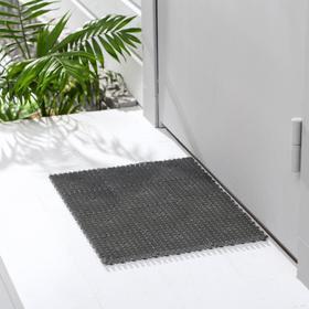 Покрытие ковровое щетинистое «Травка-эконом», 36×48 см, цвет серый