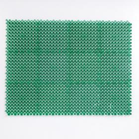 "The bristly carpet 36 x 48 cm ""Pot-economy"", green"