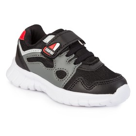 Кроссовки детские, цвет чёрный/серый, размер 22