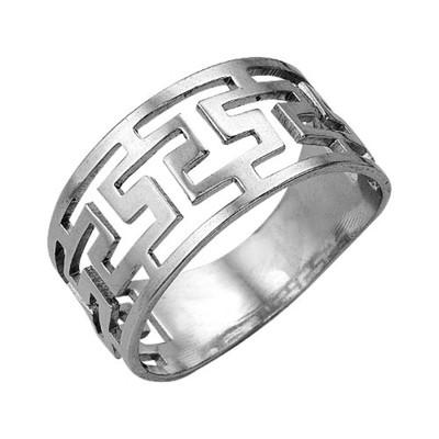 """Кольцо """"Клеопатра"""", посеребрение с оксидированием, 18 размер"""