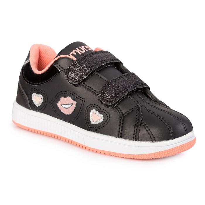 Кроссовки для девочки, арт. 205557, цвет чёрный, размер 28