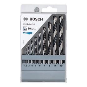 Набор сверл по металлу BOSCH 2608577348, HSS, PointTeQ, 10 шт, d=1-10 мм, цилиндр. хвостовик   42257