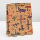 "Package Kraft ""Airplane"", 19 x 24 x 8 cm"