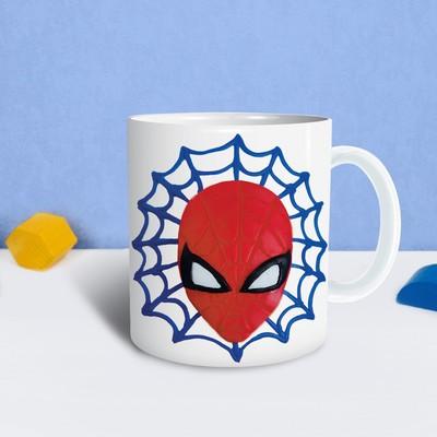 Кружка для декорирования полимерной глиной, Человек-паук