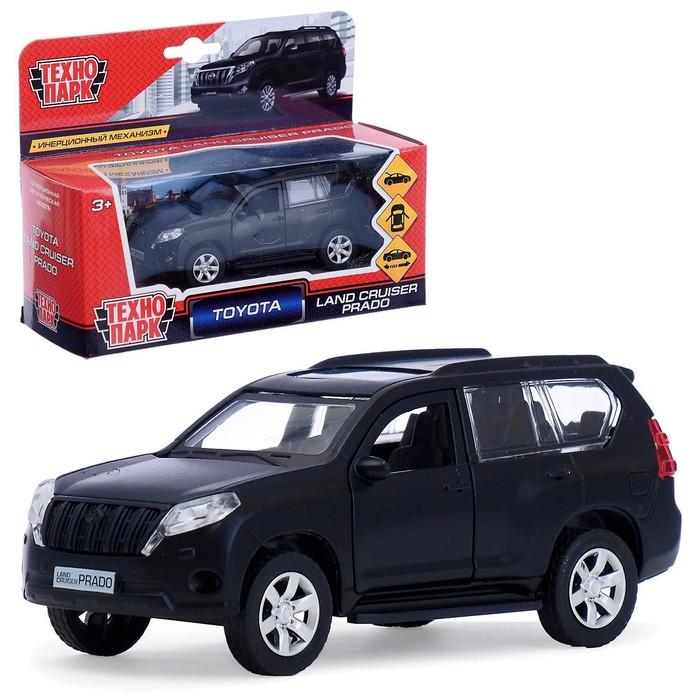 Машина металлическая Toyota prado 12см, цвет чёрный, открывающиеся двери, инерционная