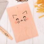 Доска разделочная «Котик», 28 × 18 см