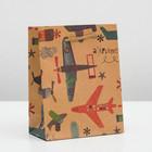 "Package Kraft ""Airplane"", 11 x 14 x 5 cm"