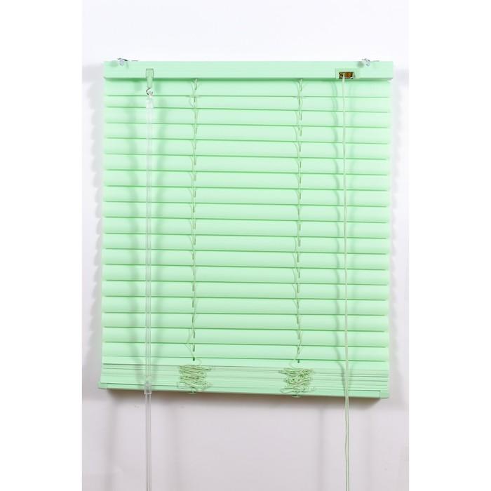 Жалюзи пластиковые, размер 100х160 см, цвет зелёный
