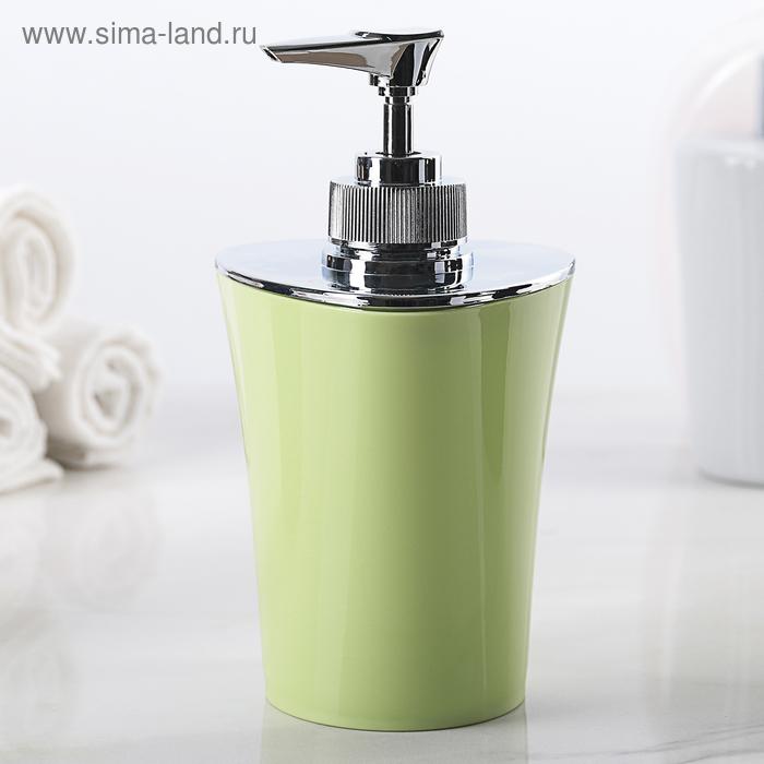 Дозатор для жидкого мыла 250 мл Wiki green, цвет зелёный