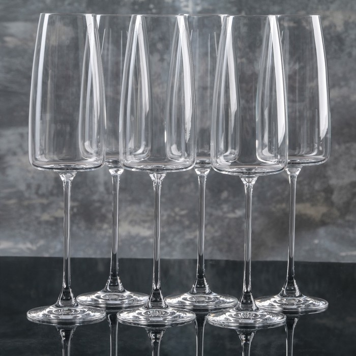 Набор бокалов для шампанского 340 мл Lord, 6 шт