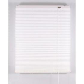 Штора-плиссе, размер 180х160 см, цвет белый