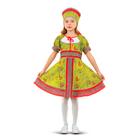 """Русский народный костюм """"Сказочные цветы"""", платье, головной убор, р-р 36, рост 134-140 см, цвет зелёный"""