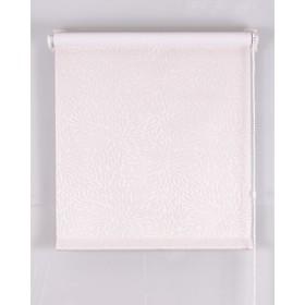 Рулонная штора Blackout, размер 40х160 см, имитация жаккарда «подсолнух», цвет белый