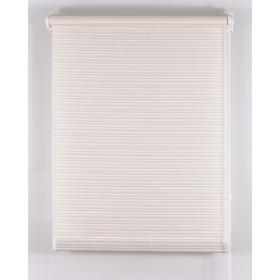 Рулонная штора «Зебрано», размер 40х160 см, цвет белый