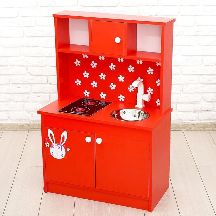 Игровая мебель «Кухонный гарнитур Зайка», цвет красный