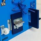 Бизиборд 25*25, цвет синий - фото 1047061