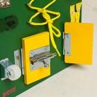 Бизиборд 25*25, цвет зеленый - фото 105607297