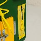 Бизиборд 25*25, цвет зеленый - фото 105607299