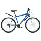 """Велосипед 26"""" Challenger Agent, 2019, цвет синий/белый/голубой, размер 20''"""