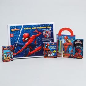 """Набор для творчества, """"Супергерой"""", 4 предмета, """"Человек-Паук"""""""