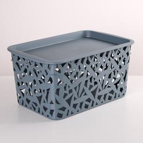 Корзинка для хранения с крышкой econova, 29,3×19,3×14,7 см, цвет МИКС