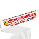 """Лента """"Выпускник детского сада"""", совы, 140 х 9 см"""