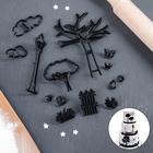 Набор выемок кондитерских для марципана и теста «Уютный дворик», 8 шт, цвет чёрный