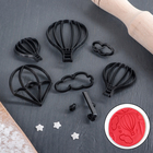 Набор выемок кондитерских для марципана и теста «Воздушный шар», 8 шт, цвет чёрный